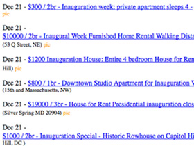 Inauguration Rentals: DC's Gold Rush?