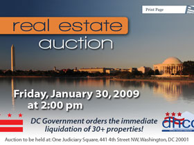 Winning Bids for the 30 Properties Auctioned by DC Gov