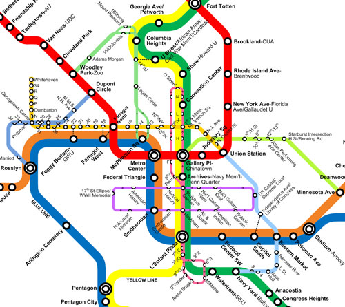 Greater Greater Washington S Dc Metro Circulator Map