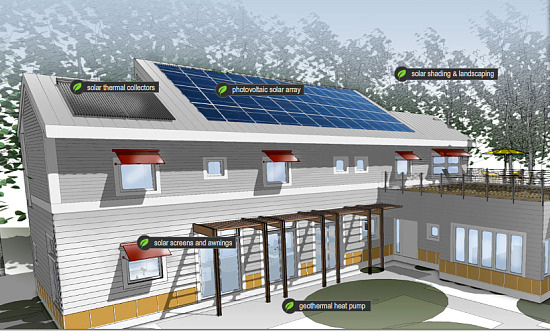 Beau Image. Rendering Of Bethesda Net Zero Home