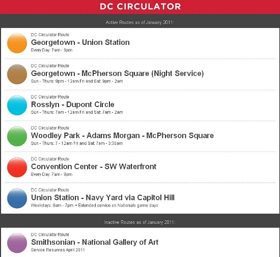 New Map Tracks DC Circulator Buses in Real Time: Figure 1