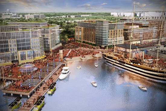 Rendering of the wharf which will drastically alter southwest dc s