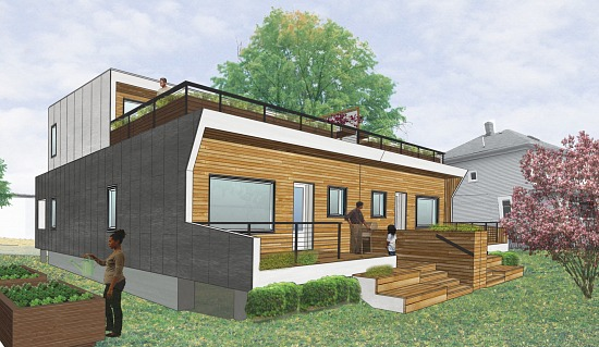DC's First Passive House Almost Complete: Figure 1