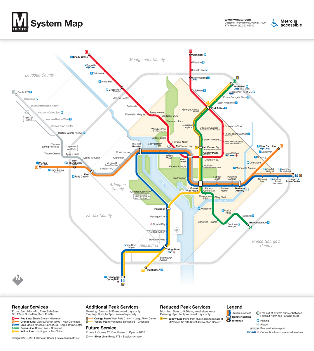 Wmata Subway Map.A More Polished Re Design Of The Dc Metro Map