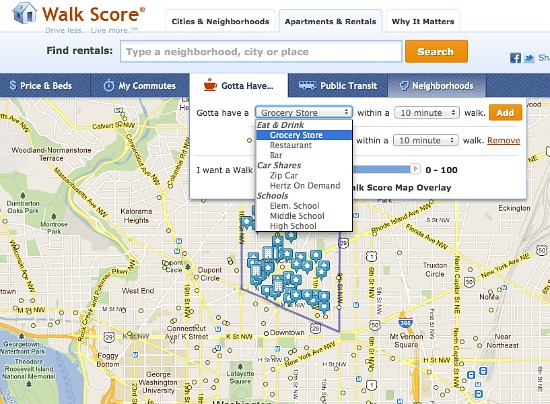 Gotta Have: Walk Score's Newest Feature Is Customized To You: Figure 1