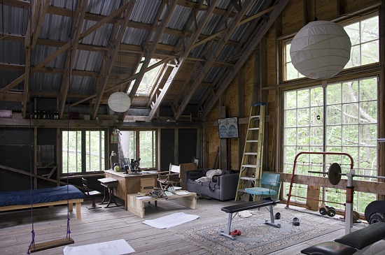 Friday Eye Candy: A Home Office in a Vermont Barn: Figure 3