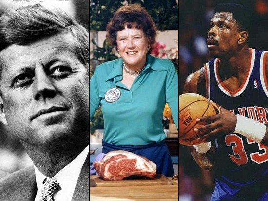 New Bigwigs: JFK, Julia Child, Patrick Ewing: Figure 1