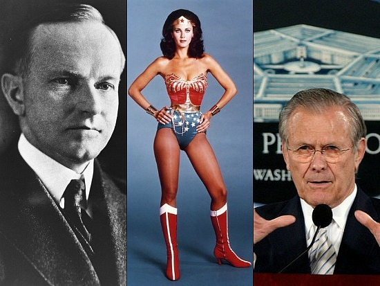 New Bigwigs: Wonder Woman, Donald Rumsfeld, and the 30th President: Figure 1
