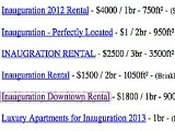 The Inauguration Rental Gold Rush
