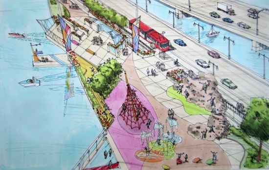 11th Street Bridge Park Design Competition Down to Four Teams: Figure 1