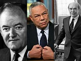 New Bigwigs: Colin Powell, Donald Hornig & Hubert Humphrey