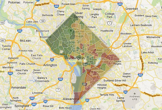 Where Are Dc S Richest And Poorest Neighborhoods