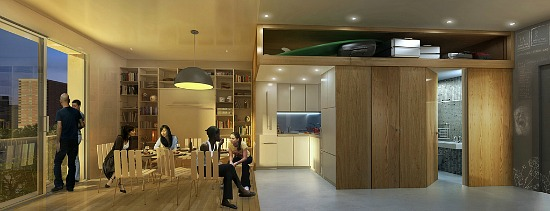 Winner of NYC's Micro Apartment Competition Announced: Figure 3