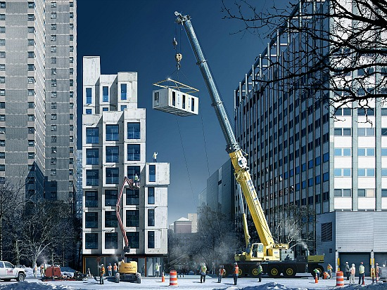 NYC's Hotly Anticipated Micro-Unit Project Plans March Delivery of Modules: Figure 1