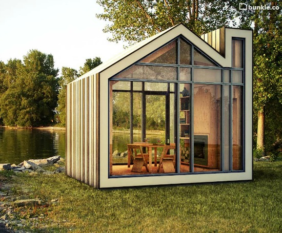 a tiny glass house for your yard