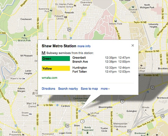 Google Maps Launches Live Public Transit Alerts for DC: Figure 1
