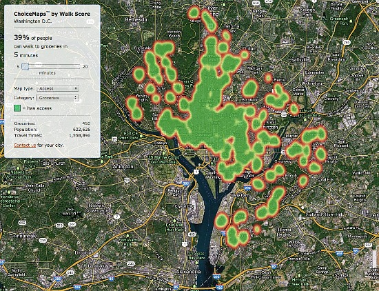 New Tool Measures Grocery, Restaurant and Public Transit Access in DC: Figure 2