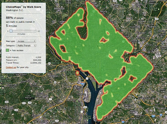 New Tool Measures Grocery, Restaurant and Public Transit Access in DC: Figure 3