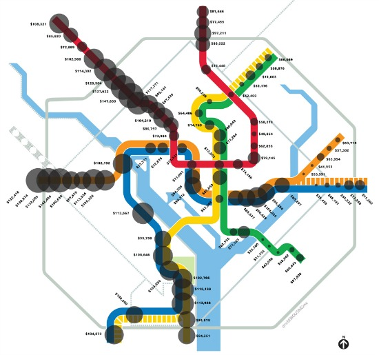 Metro Lines and Median Income: Figure 1