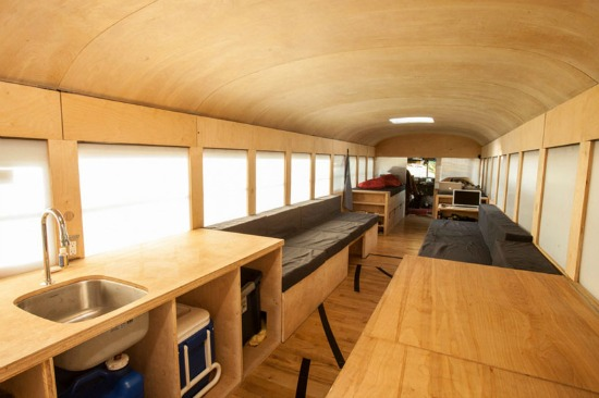 From a Bus Into A Tiny Home: Figure 1