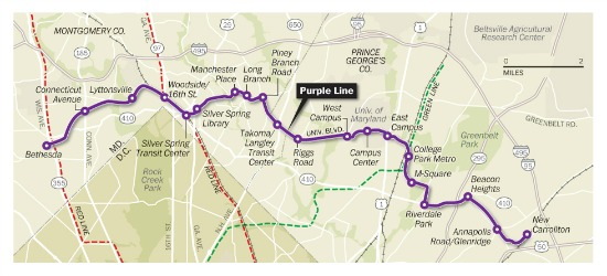 Maryland's Purple Line Moving Forward, State to Invest $400 Million: Figure 1