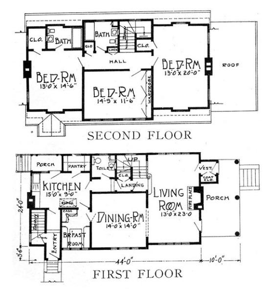 1925 vs. 2012: Which Floorplan Wins?: Figure 2