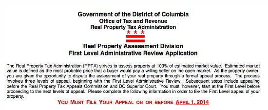 A Home's Worth? Appealing a DC Property Tax Assessment: Figure 1