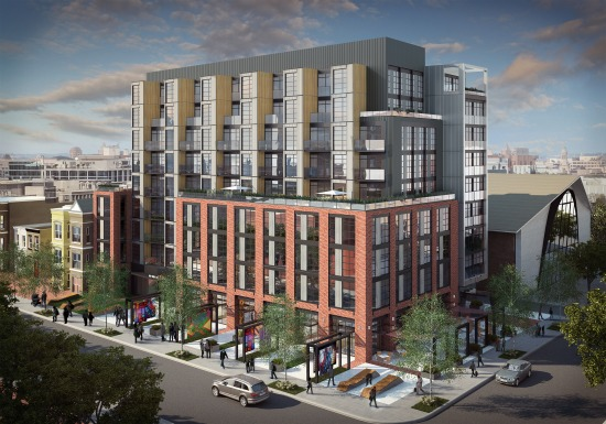 Details and Renderings of the Four Proposals for 8th and O Street: Figure 1