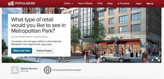 Developers, Popularise Ask Pentagon City Neighbors What Retail They Want: Figure 1