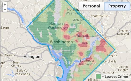 WalkScore Debuts Neighborhood-by-Neighborhood Crime Grade Rating System: Figure 2