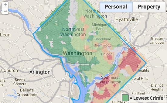 WalkScore Debuts Neighborhood-by-Neighborhood Crime Grade Rating System: Figure 1