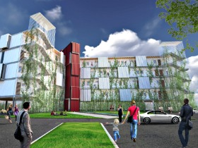 A 38-Unit Shipping Container Development Proposed in South Carolina