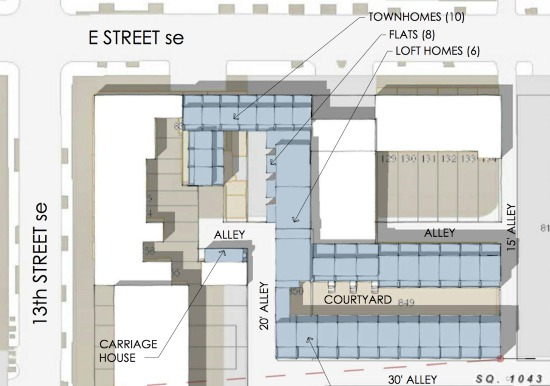 45-Unit Townhouse and Loft Project Proposed for Auto Repair Shop on Capitol Hill: Figure 2