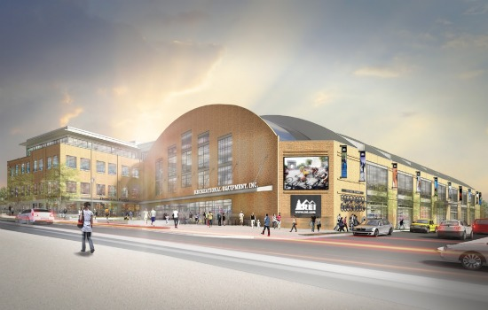 REI, Uline Arena Anchor, to Open in Late 2016: Figure 1