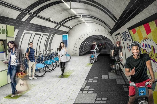 A Proposal to Turn London's Unused Subway Tunnels into Bike Lanes: Figure 1