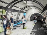 A Proposal to Turn London's Unused Subway Tunnels into Bike Lanes