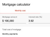 Google Launches In-Browser Mortgage Calculator