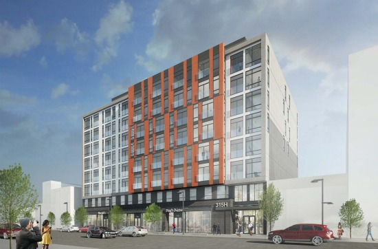 Renderings and Details of the 125 Units Planned for 315 H Street: Figure 1