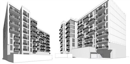 Renderings and Details of the 125 Units Planned for 315 H Street: Figure 2