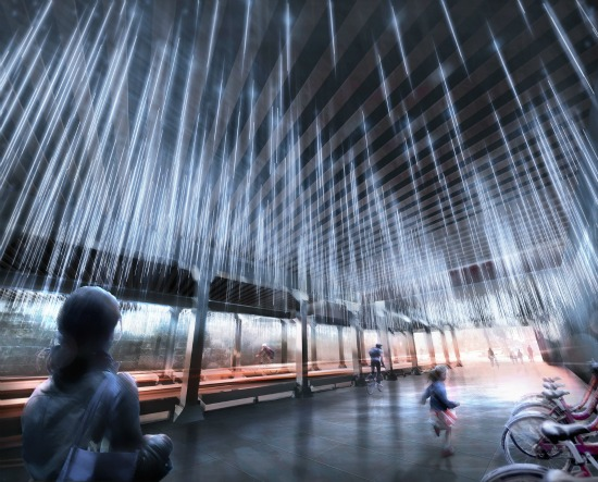 NoMa BID Selects Rainstorm Installation For M Street Underpass: Figure 1