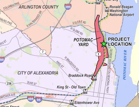 Alexandria Picks Site for Potomac Yard Metro: Figure 1