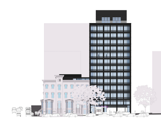 Micro-Unit Hotel Proposed near Mount Vernon Square Would Have No Parking: Figure 1