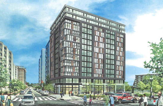 200-Room Hotel With 30 Luxury Apartments Planned For Mount Vernon Triangle: Figure 1