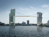 Copenhagen Hotel/Office Project Will Feature Pedestrian Bridge 200 Feet Above Harbor