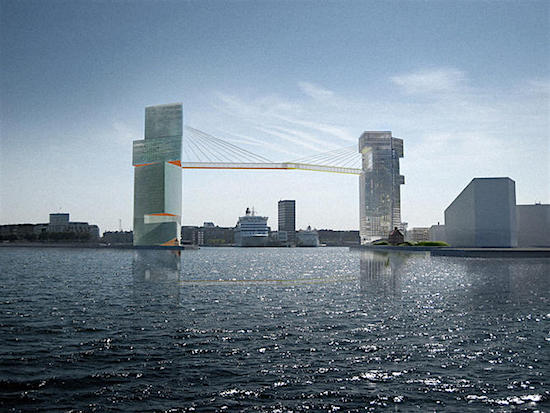 Copenhagen Hotel/Office Project Will Feature Pedestrian Bridge 200 Feet Above Harbor: Figure 1
