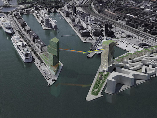 Copenhagen Hotel/Office Project Will Feature Pedestrian Bridge 200 Feet Above Harbor: Figure 2
