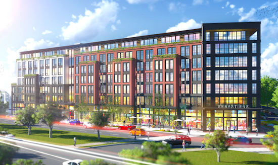 New Renderings for 180-Unit Mixed-Use Development in Hill East: Figure 1