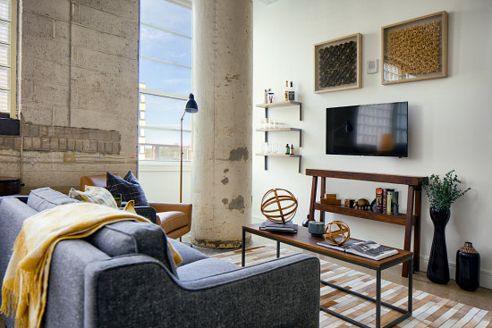 city apartments inside. image  Inside one of the apartments Ivy City s Hecht Warehouse Apartments