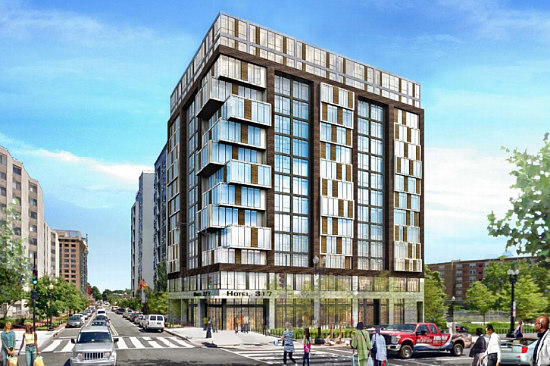 New Rendering For Hotel/Apartment Hybrid Planned in Mount Vernon Triangle: Figure 1