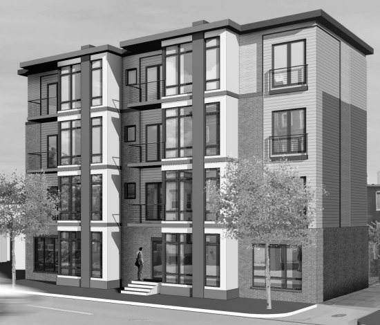 9-Unit Development Planned For Vacant Lot Between Bloomingdale and Truxton Circle: Figure 1